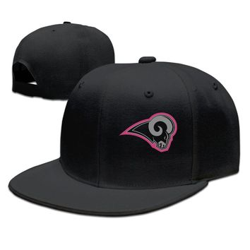 Los Angeles Rams Breast Cancer Awareness Team Travel Performance Cotton Unisex Adult Womens Hip-hop Caps Mens Hip-hop Hat