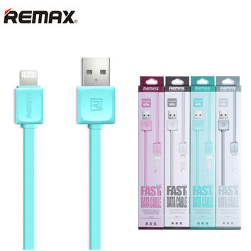USB Cable for Apple iPhone 5 5s 6 6Plus 6s SE 7 Plus for iPad Air Mini Pro Flat Wire Original Remax 100cm Charge Data Transmit