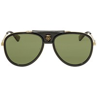 Gucci Green Aviator Sunglasses GG0062S-014 57
