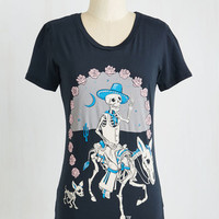 Skulls Mid-length Short Sleeves Fright Rider Tee