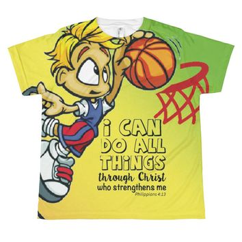 *NEW* Youth NBA Hopefuls Basketball Christian T-Shirt - Boys Kids Sizes XS-L