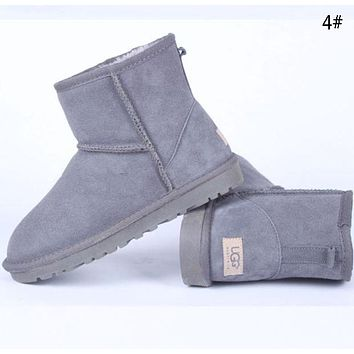 """UGG""  More Color  Fashion New Male Women Wool Snow Keep Warm Boots Shoes Gray"
