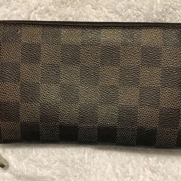 Authentic Louis Vuitton Zippy Wallet Bi Fold Brown Damier GUC