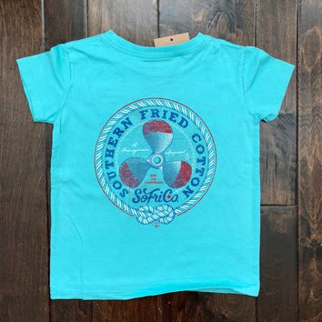 Southern Fried Cotton - Toddler SS Knotical Tee - Mason Jar