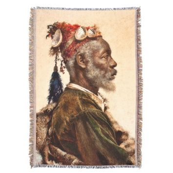 Darcawi Holy Man of Marrakech Tapestry Throw Blanket