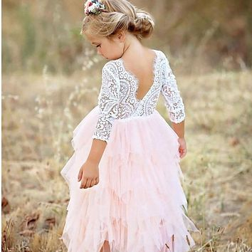 Little Girls Dress Tutu Party Clothes Wedding / sizes 3T-8