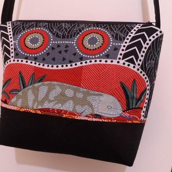 Shoulder Bag Australian Aboriginal Prints - Handmade Bag - Modern  Bag - Zipper Bag - Diaper Tote Bag - Beach Tote Bag - Market Tote Bag