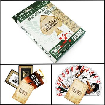 Cool Attack on Titan  Cards Entertainment Poker for Party Anime  Character Collector's Edition Playing Cards AT_90_11