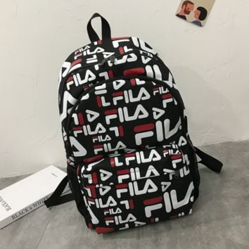 FILA Woman Men Fashion Backpack School Bag Bookbag Daypack Travel Bag