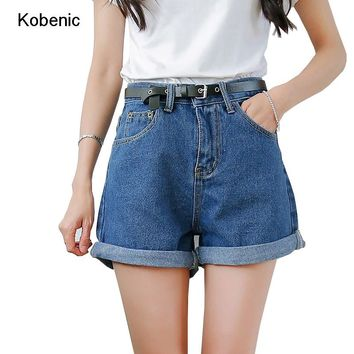 Solid Women Clothing Denim Shorts with Pockets New Arrival Harajuku Summer Ropa Mujer Slim Short Pants Feminino 2017 Casual Jean