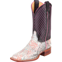 Women's Justin Cotton Candy Backcut Python Cowgirl Boots