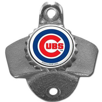 Chicago Cubs MLB Baseball Wall Mount Metal Pub Bar Bottle Opener - New