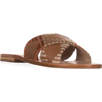 Kelsi Dagger Brooklyn Crown Slide Sandals, Cinnamon, 9.5 US