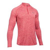 Men's UA Tech™ ¼ Zip in Red/White by Under Armour - FINAL SALE