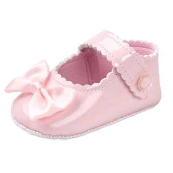 Baby Girl Bowknot Leather Shoes
