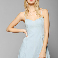 BDG Chambray Fit & Flare Slip Dress - Urban Outfitters
