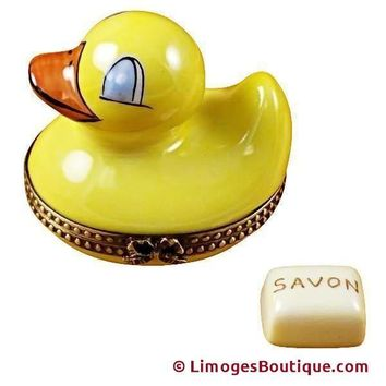 DUCK W/ SOAP LIMOGES BOXES