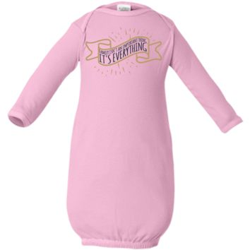 Family is Everything Infant Layette - Newborn Day Gown - Baby Shower Gift