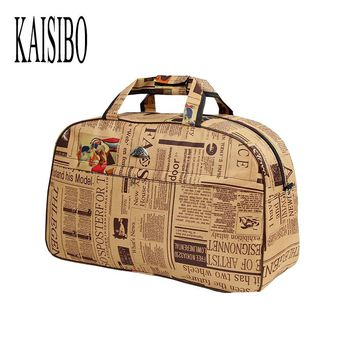 KAISIBO New Women Waterproof Travel Bags Large Capacity Oxford Luggage Bag Travel Duffle Bag Ladies bolsa viagem