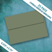 A2 Size CYPRESS GREEN Envelopes | Pack of 25