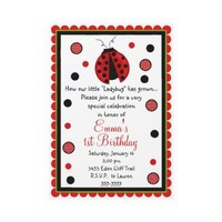 Ladybug Birthday Invitations from Zazzle.com