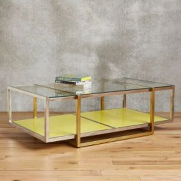 Tracey Boyd Floating Lacquered Coffee Table in Yellow Size: One Size Furniture