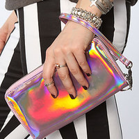 Cheap Monday The Stiff Wallet in Rainbow Foil