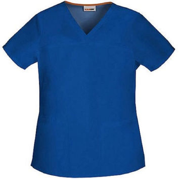 ScrubStar Women's Core V-Neck Scrub Top, 3X, Electric Blue, 90007