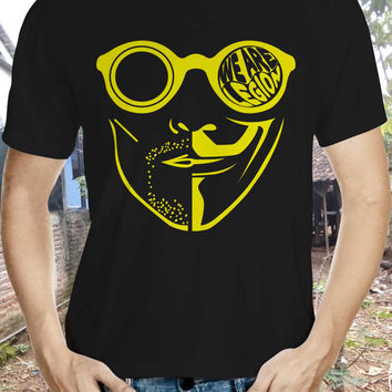 Snowden we are legion Shirt THIN anonymous mask guy fawkes edward snowden hacker anarchist/anarchy alternative punk