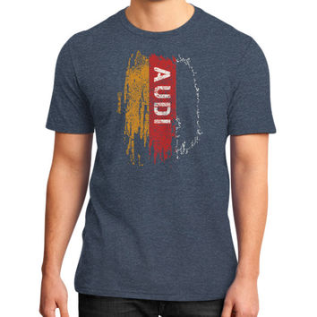 AUDI FLAG RED District T-Shirt (on man)