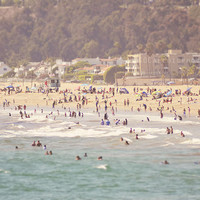 Santa Monica Beach, houses, Marilyn Monroe, Los Angeles, summer, ocean, seaside, photography, California, famous house