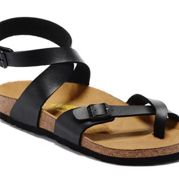 Men's and Women's BIRKENSTOCK sandals  Yara Birko-Flor Patent 63263228-095