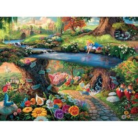 Thomas Kinkade Disney Collection Alice in Wonderland Jigsaw Puzzle - Puzzle Haven