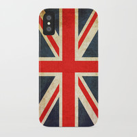 Vintage Union Jack British Flag iPhone Case by Smyrna