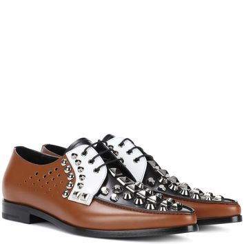 Embellished leather brogues