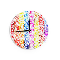 "Sreetama Ray ""Rainbow Arrows"" Multicolor Wall Clock"