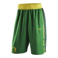 The Nike College Authentic (Oregon) Men's Basketball Shorts.