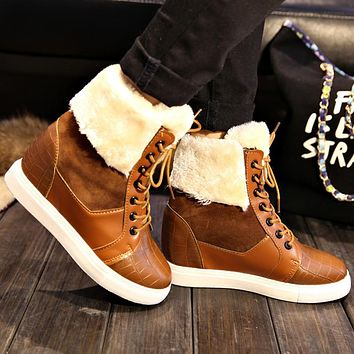 Fashion Winter Snow Boots For Women Fur Shoes Ankle Boots
