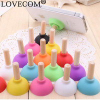 5 pcs/lot Candy Color Sillicon Toilet pumping Phone Holders Desktop Smartphone Holder For iPhone Samsung iPad Tablet