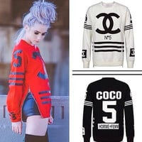 Coco Chanel Luxury N.5 Side Zip Sweater