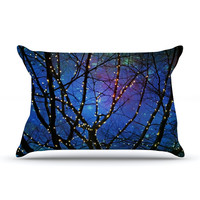 "Sylvia Cook ""Holiday Lights"" Christmas Pillow Case"