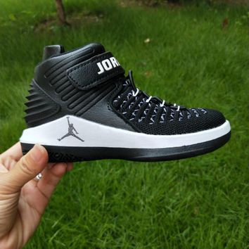 Kids Air Jordan 32 Retro Black/White Sneaker Shoe Size US 11C-3Y