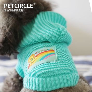 PETCIRCLE Pet Dog Cat Clothes Winter Warm Sweater For Chihuahua Yorkshire Puppy Hoodies Sports Hoody Jumper Jacket Coat