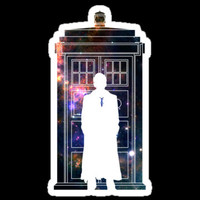 "DR. DOCTOR WHO Tardis Sticker Decal 4"" for kindle, ipads, iphone, apple laptop, shirts, cars, stocking stuffers"
