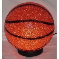 BasketBall Sparkle Lamp Molded Light Glow A slam dunk! Soft Plastic Sport Desk Lamp