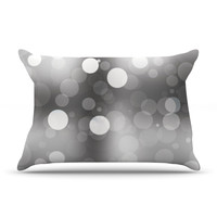 "KESS Original ""Spectral"" Gray Bokeh Pillow Case"