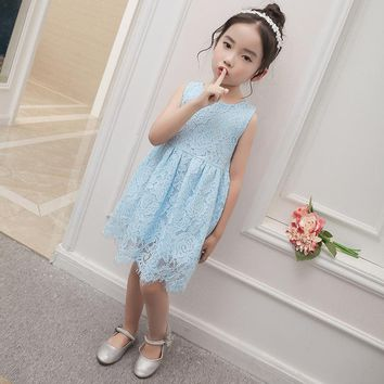 Lace Girl Wedding Party Dress Fancy Infant Princess Costume for Kids Clothes Little Girl Baby Child Dress Girls Princess Dress