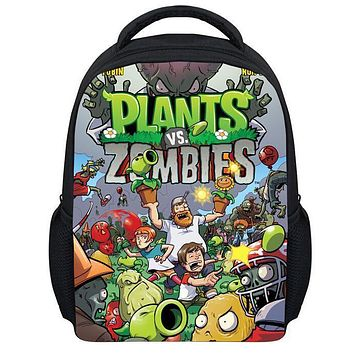 Hot Children's Game Plants VS Zombies School Backpacks for Boys and Girls Gifts New Fashion Kids Cartoon PVZ Bag Free Shipping