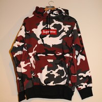 Supreme Red Camo Hoody