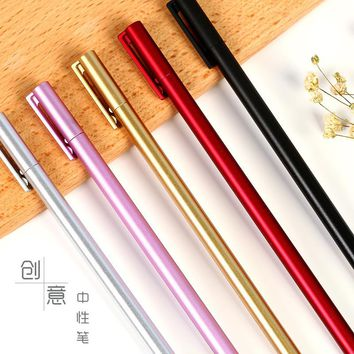 1pcs 0.5mm Cute Colorful Gel Pens Korean Black&Red Ink Gel Pens For Student Writing Office School Supplies Stationery
